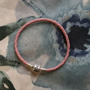 Pandora pink leather wrap